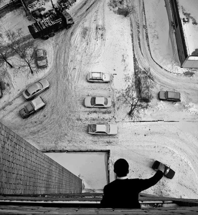 ilusión óptica coches