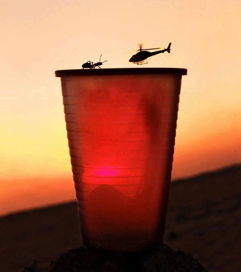 Ilusiones ópticas helicóptero