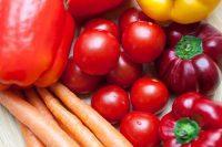 Zanahorias, tomates y pimientos
