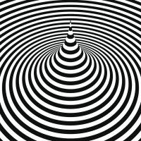 Espiral blanco y negro juego visual